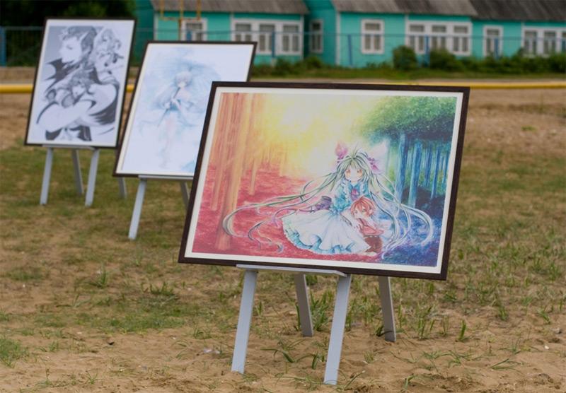 Выставка работ выпускников Ниигатского колледжа аниме и манги (С) Cool Japan Journal