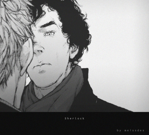 Sherlock. Фанарт от meissdes