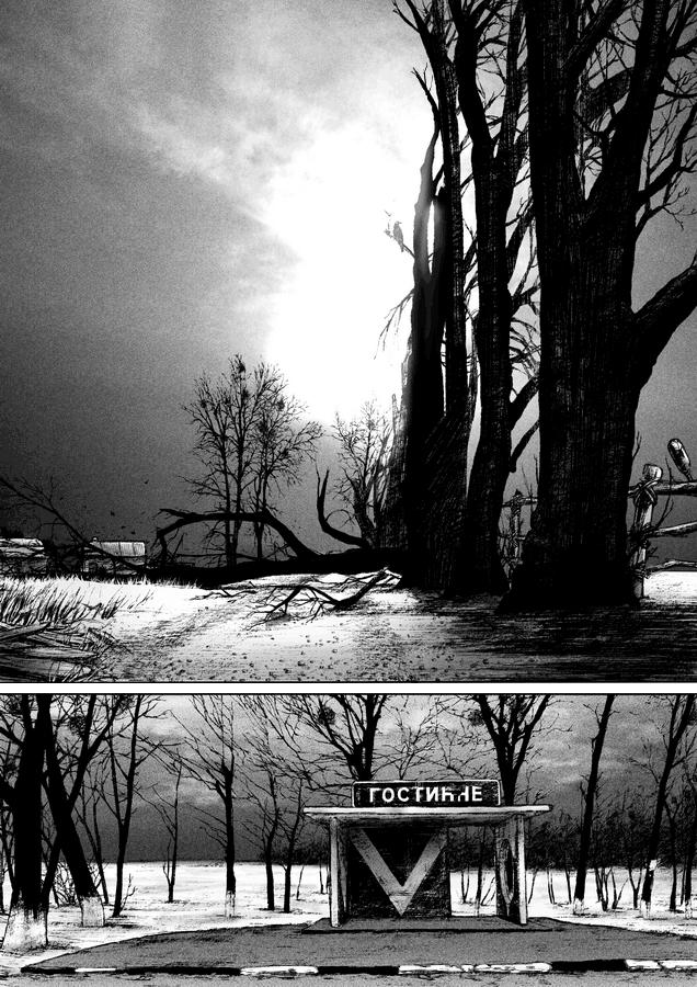 Отрывок из комикса для сборника «Зомби апокалипсис в России» (c) noi-albinoi, meissdes