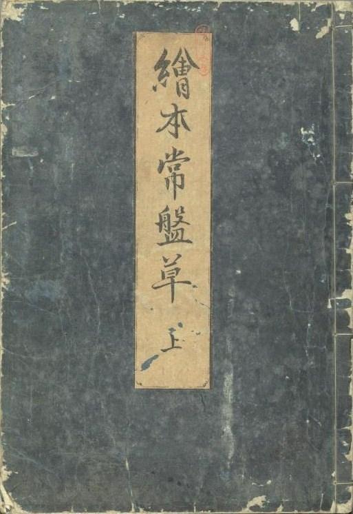 Обложка эхон «Токивагуса» («Вечнозеленые травы»), 1730