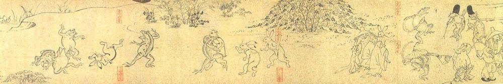 Фрагмент первого свитка «Тёдзю гига»