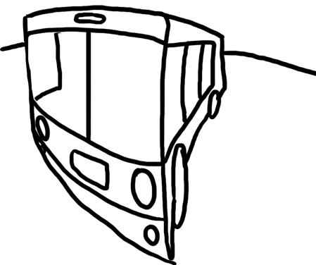 построение автобуса в искаженной перспективе