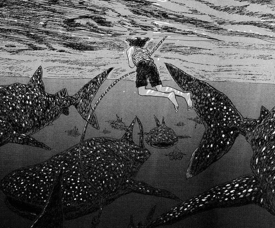"""фрагмент манги """"Дети моря"""", Игараси Дайсукэ"""