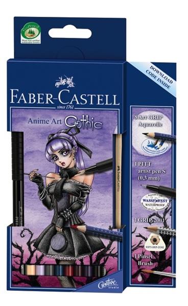 Акварельные карандаши тёмных оттенков Faber-Castell (Германия)