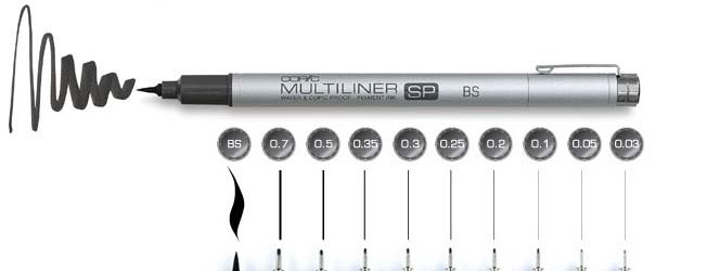 Линер COPIC Multiliner SP (Япония)