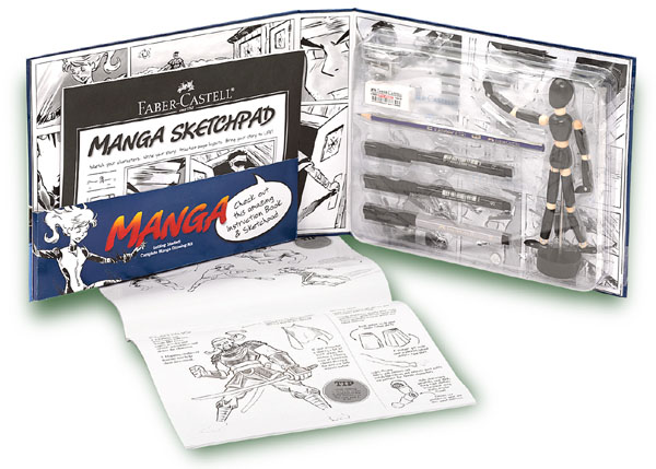 "Содержимое набора ""Manga Getting Started"", Faber-Castell (Германия)"