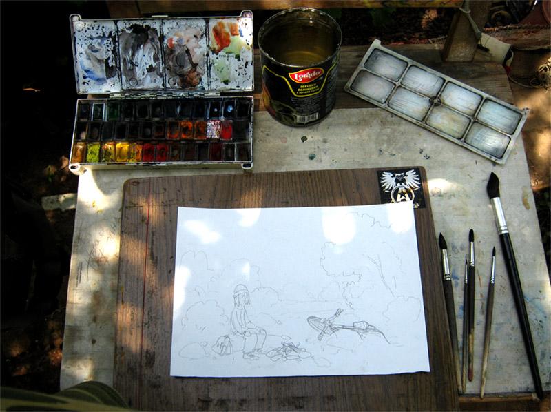 материалы для рисования акварелью