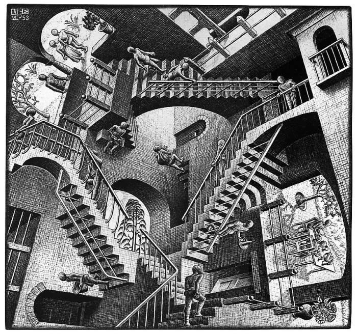 """Мауриц Корнелис Эшер """"Относительность"""", 1953"""