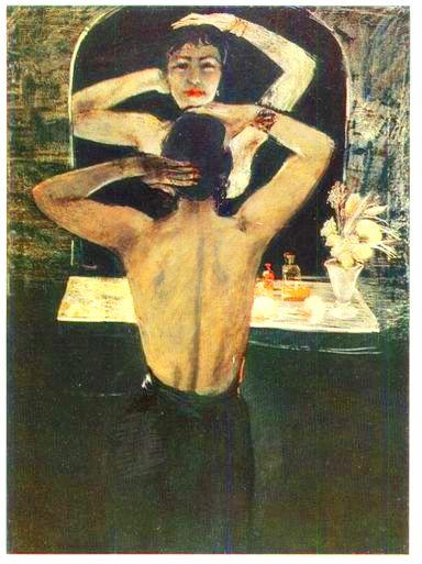 "Александр Дейнека ""Ночь"" (фрагмент), 1935"
